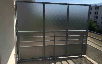 Création et installation d'un brise vue de balcon