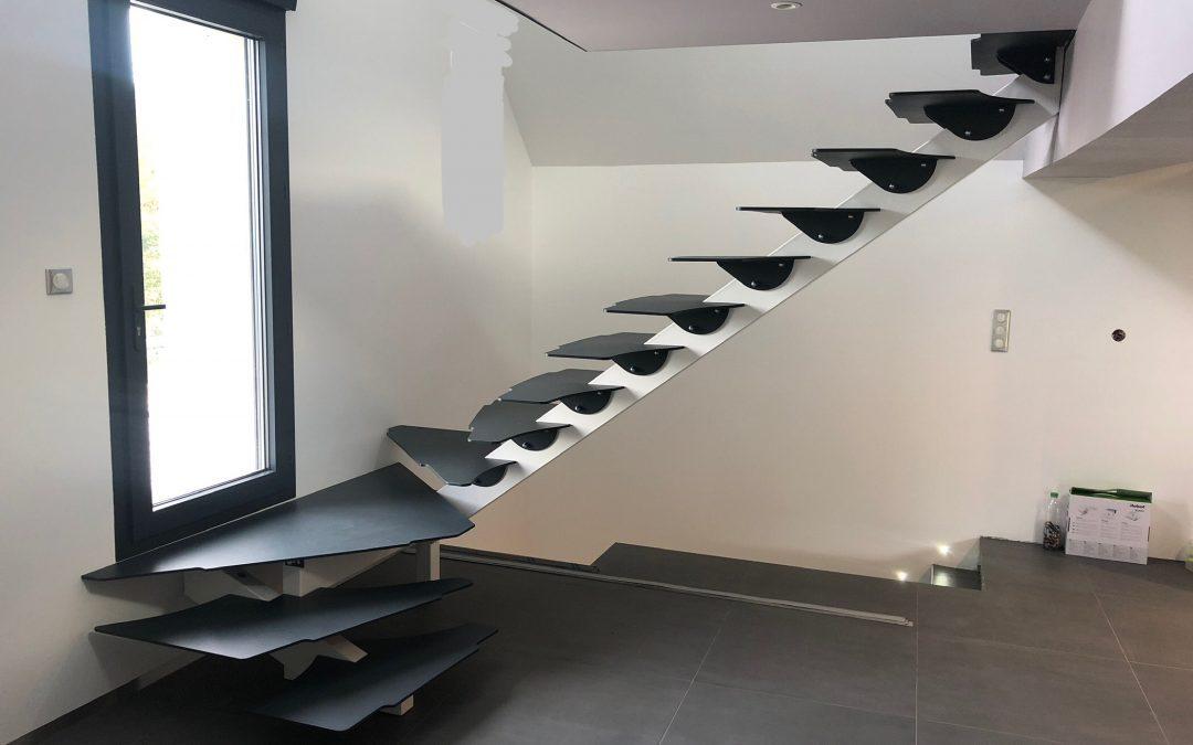 Notre nouvelle réalisation : des escaliers modernes !