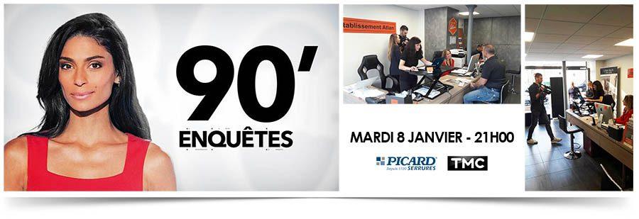 Reportage Picard Serrures sur TMC le Mardi 8 Janvier à 21H00